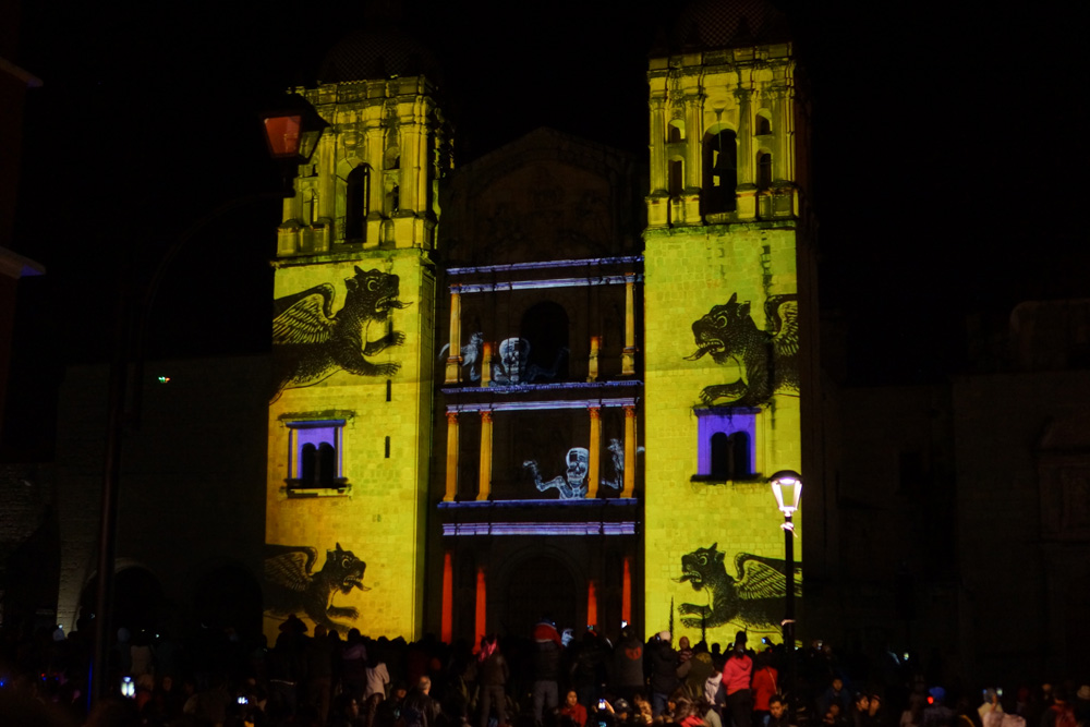 Projections on the Santo Domingo Church